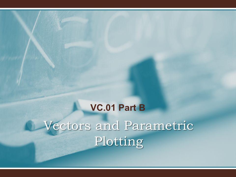 VC.01 Part B Vectors and Parametric Plotting