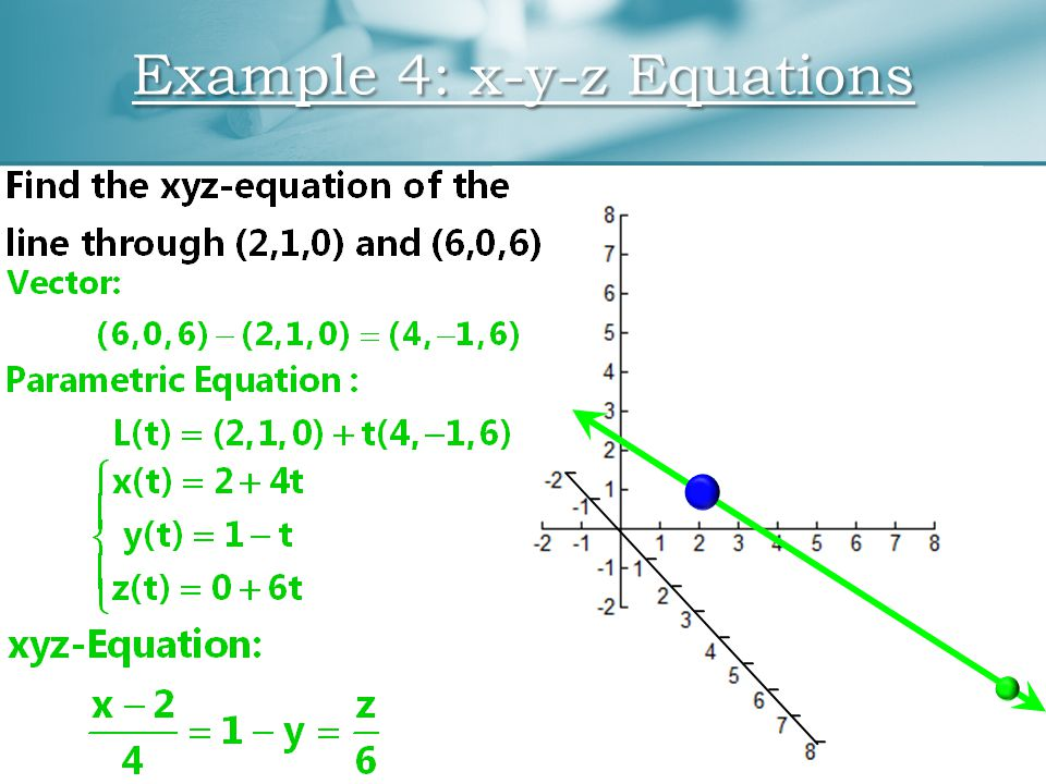 Example 4: x-y-z Equations
