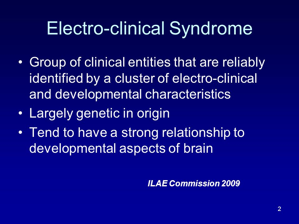 43 Lennox Gastaut Syndrome Polymorphic seizures Tonic Seizures - Commonest Atypical absences – 2/3 rd of patients Atonic seizures (Drop attacks) Myoclonic jerks Cognitive and behavioural abnormalities EEG Slow spike and wave, Paroxysms of fast activity