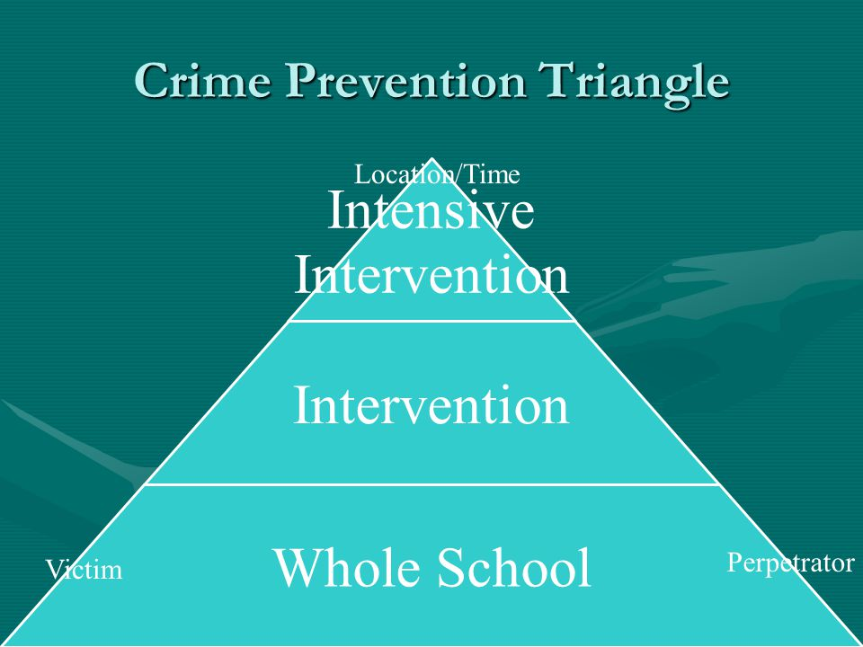 Intensive Intervention Whole School Victim Perpetrator Location/Time Crime Prevention Triangle