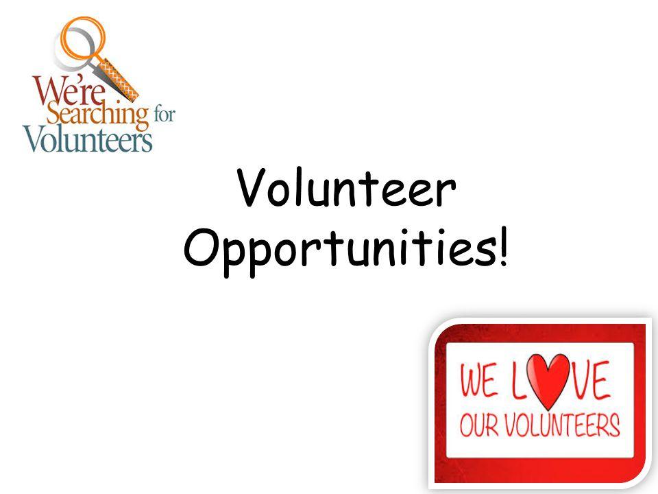 Volunteer Opportunities!