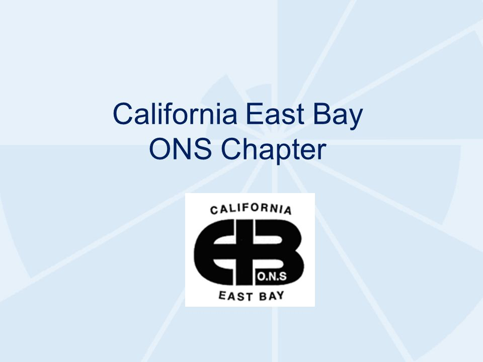 California East Bay ONS Chapter