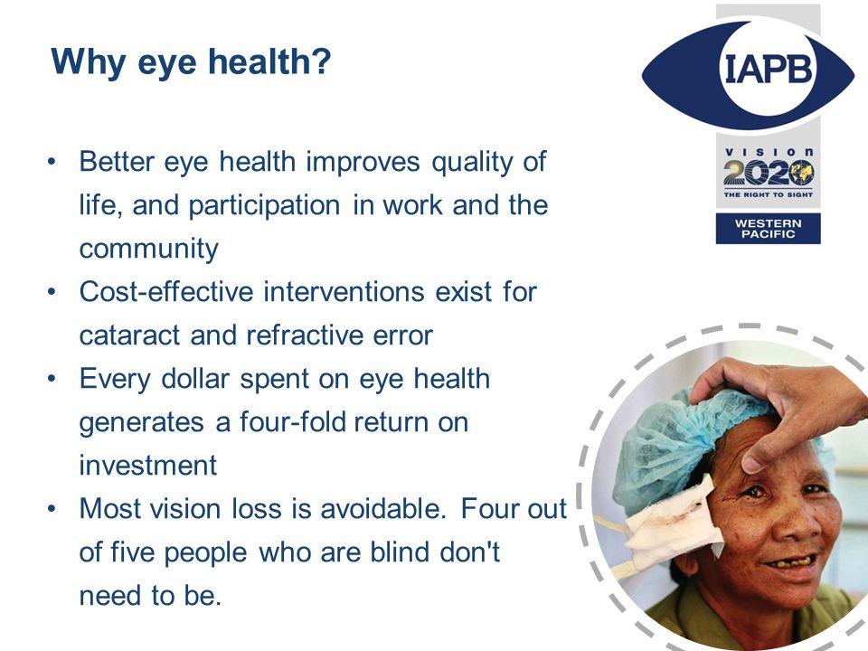 Why eye health.