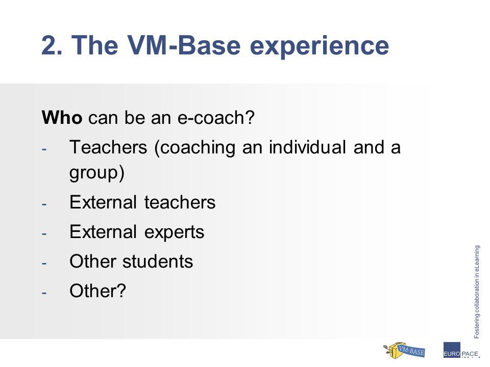 Who can be an e-coach.