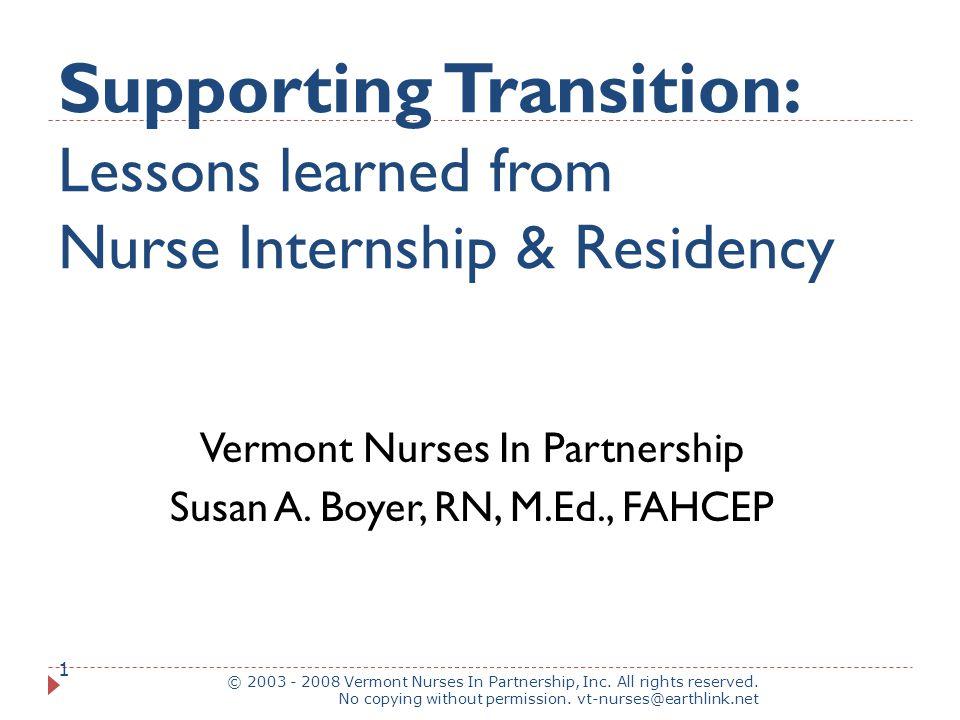 VNIP Collaborative approach © 2003 - 2008 Vermont Nurses In Partnership, Inc.