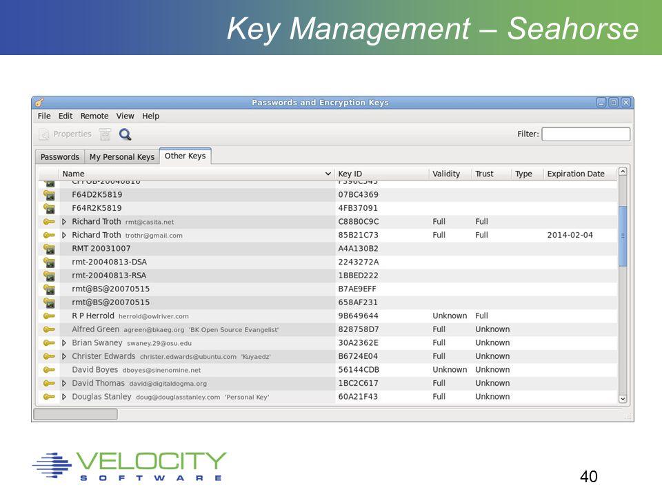 40 Key Management – Seahorse