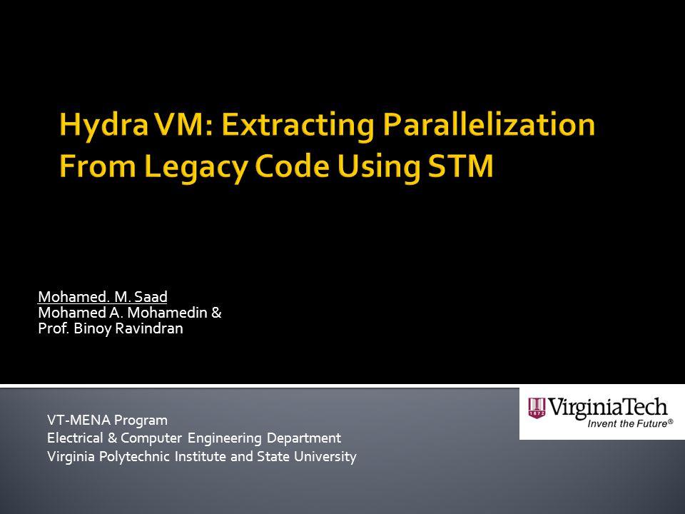  Motivation & Objectives  Background  Transactional Memory  Jikes RVM  Program Reconstruction  Architecture  Profiler, Builder & Runtime  Future Work