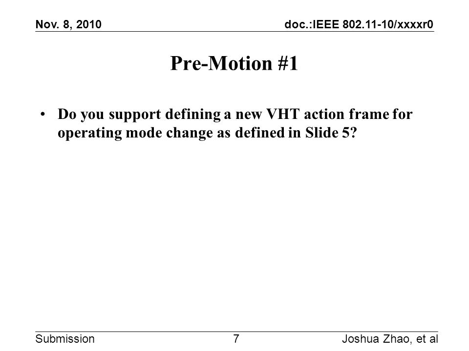 doc.:IEEE 802.11-10/xxxxr0 Submission Nov.