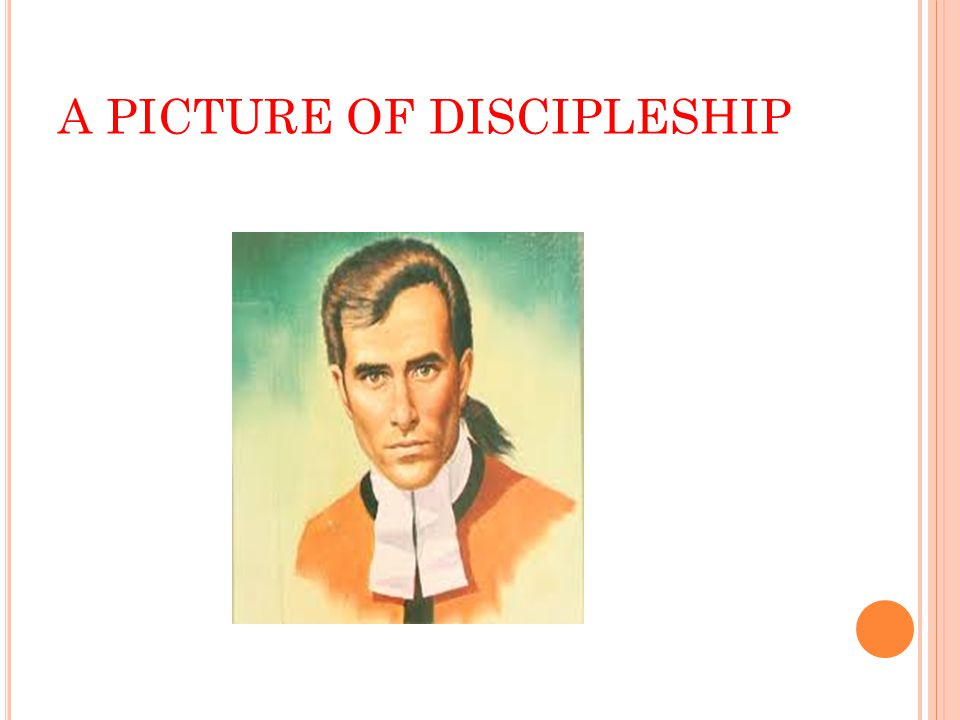 A PICTURE OF DISCIPLESHIP