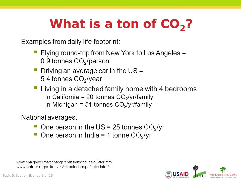 What is a ton of CO 2 .