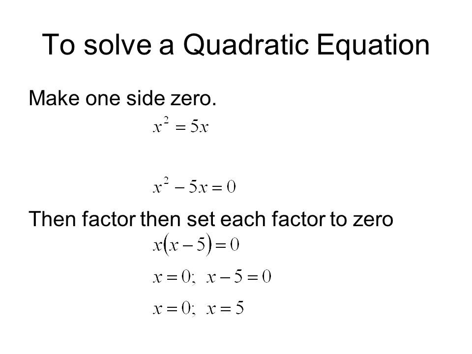 How to write a quadratic equation with roots Given r 1,r 2 the equation is (x - r 1 )(x - r 2 )=0 Then foil the factors, x 2 - (r 1 + r 2 )x+(r 1 · r 2 )=0