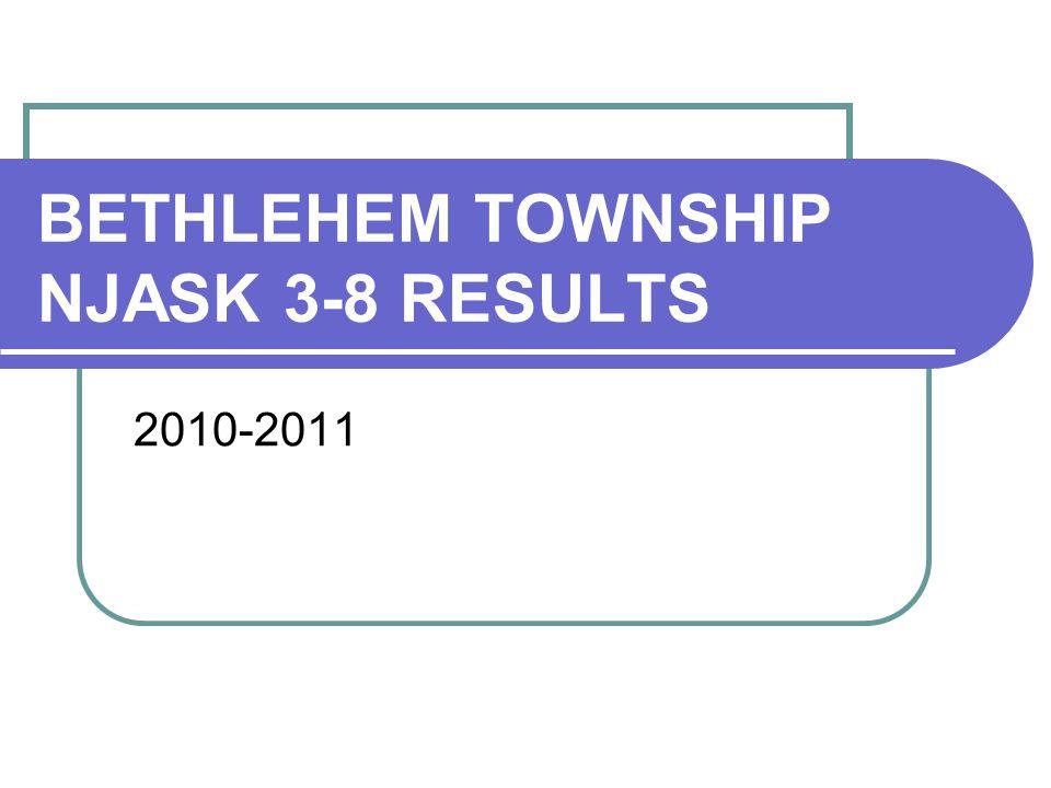 BETHLEHEM TOWNSHIP NJASK 3-8 RESULTS 2010-2011