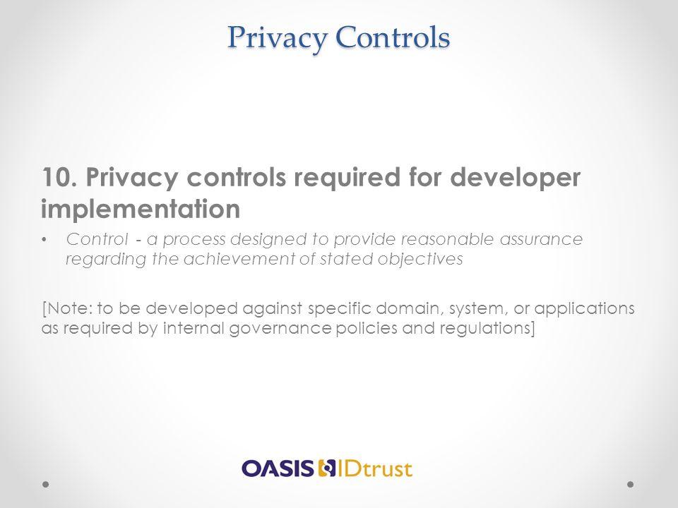 Privacy Controls 10.