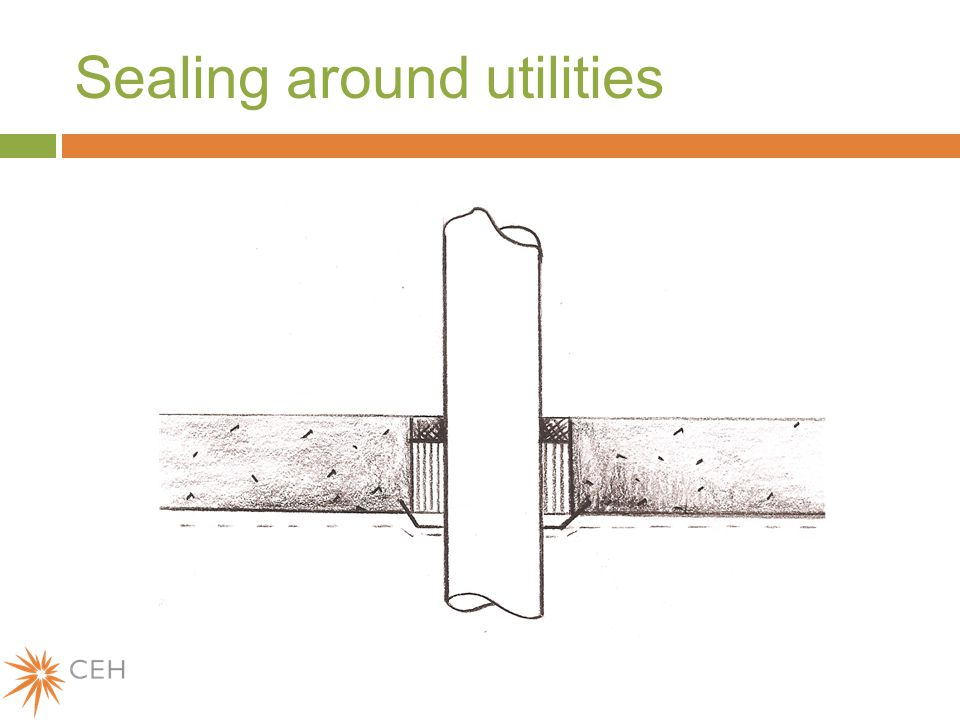 Sealing around utilities