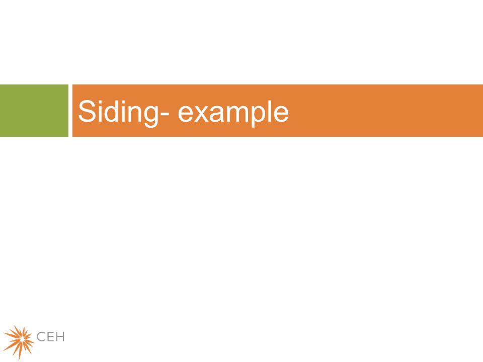Siding- example