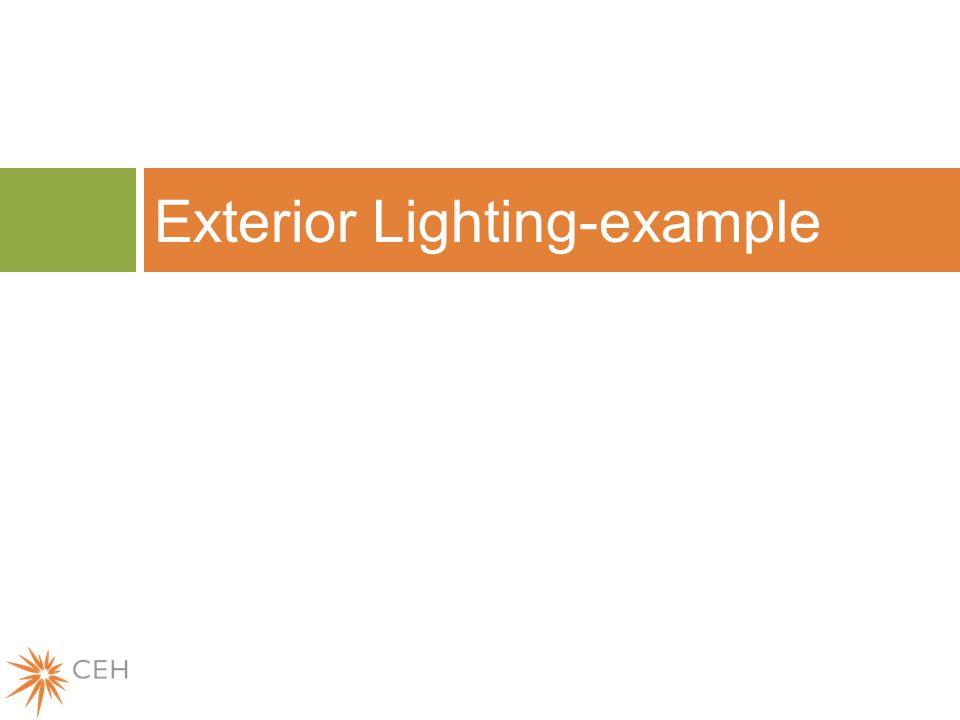 Exterior Lighting-example