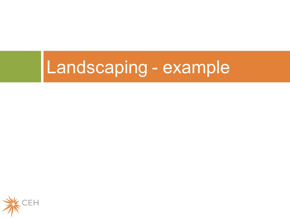 Landscaping - example