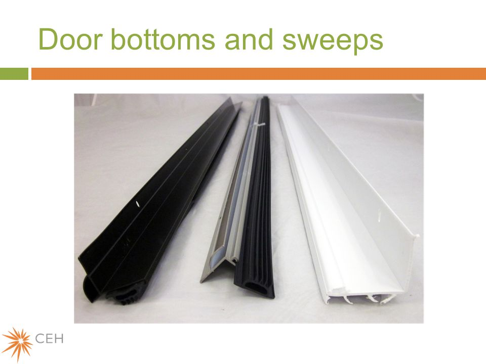 Door bottoms and sweeps