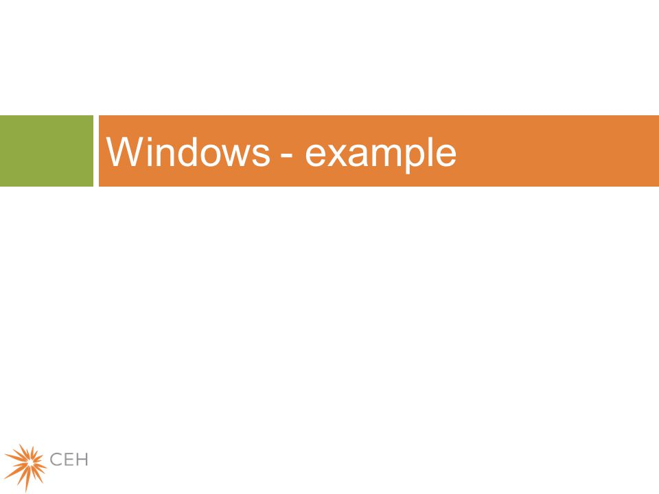 Windows - example