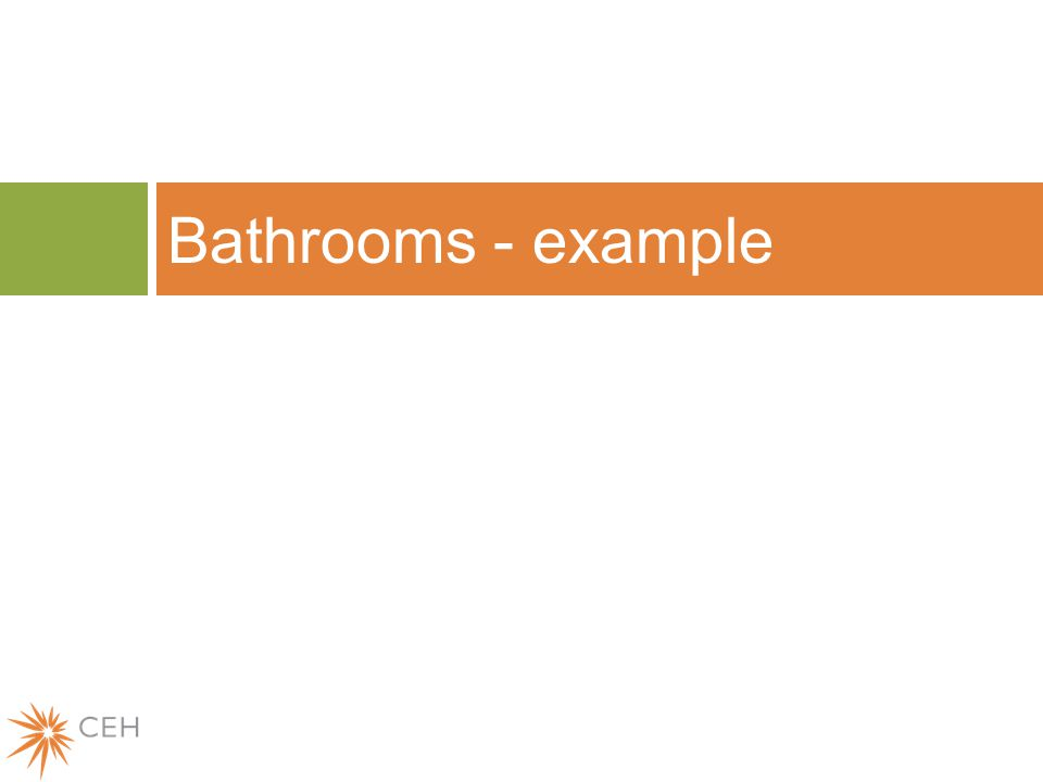 Bathrooms - example