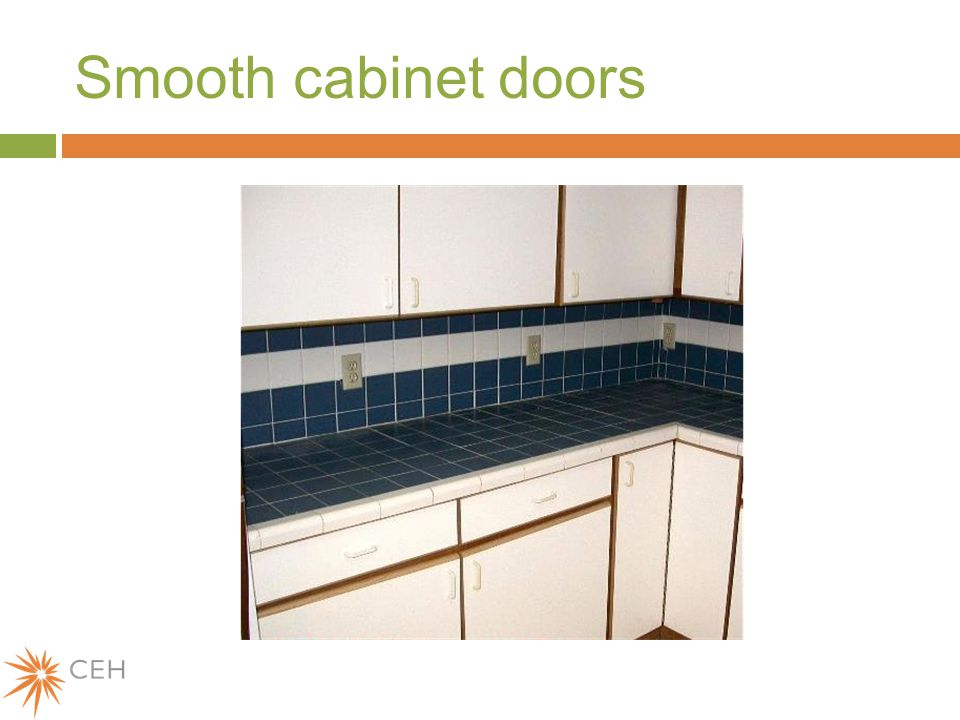 Smooth cabinet doors