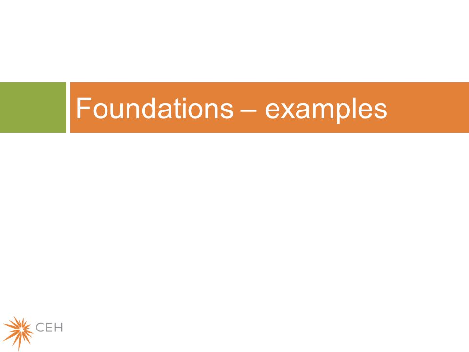 Foundations – examples