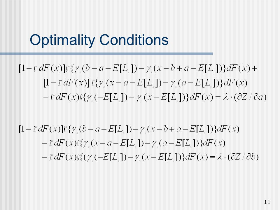 11 Optimality Conditions