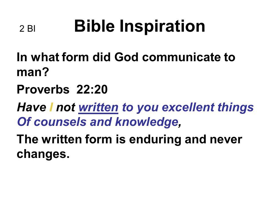 Bible Inspiration End BI