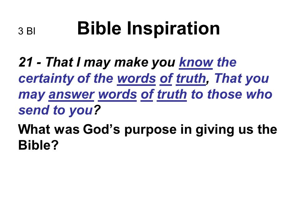 10 BI Bible Inspiration to bring it more into harmony with the original text.
