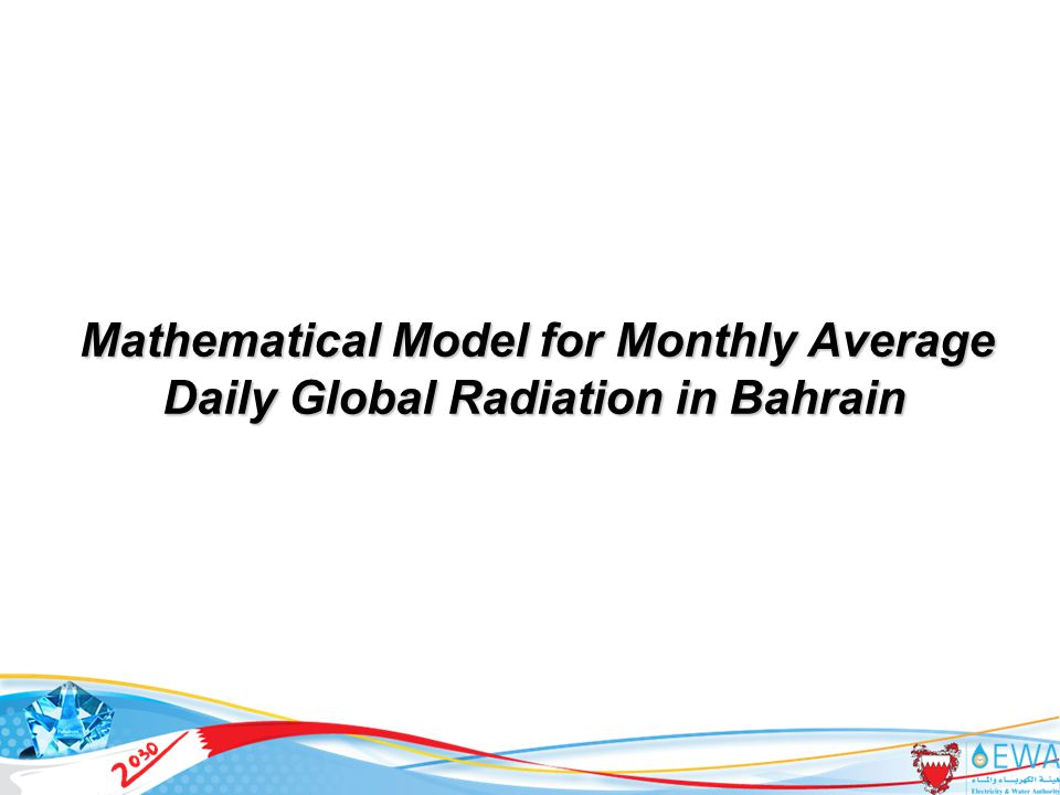 20 Mathematical Model for Monthly Average Daily Global Radiation in Bahrain
