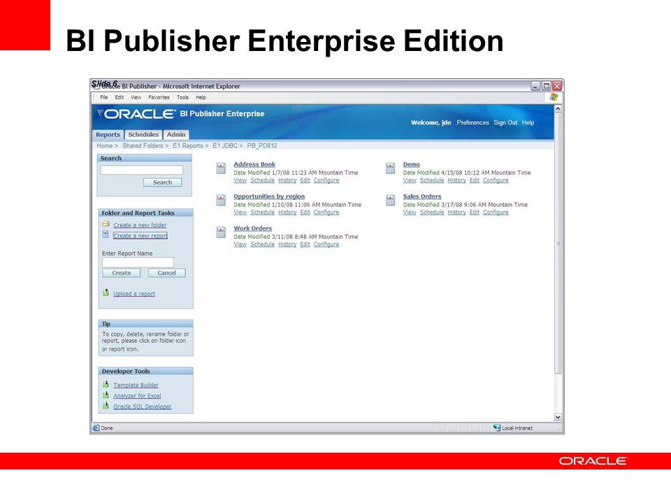 BI Publisher Enterprise Edition