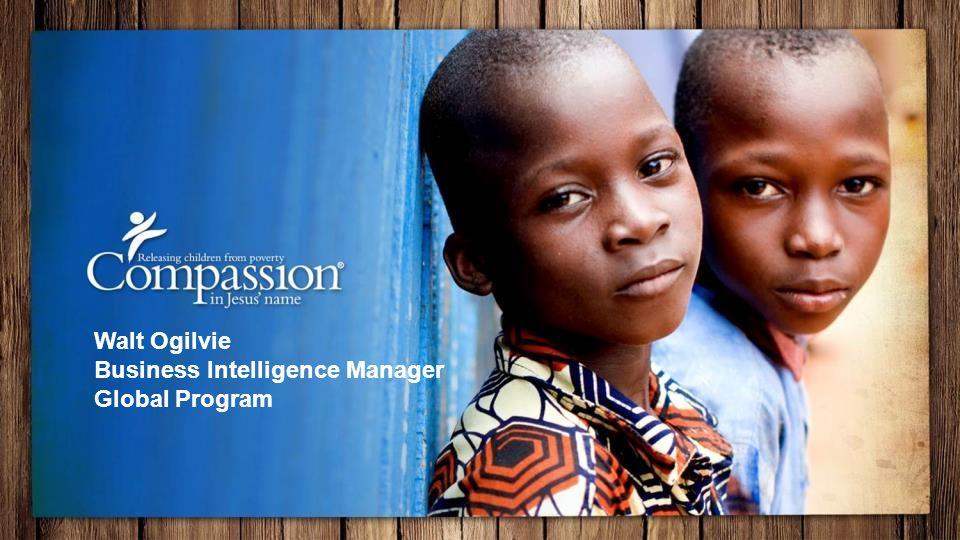 Walt Ogilvie Business Intelligence Manager Global Program
