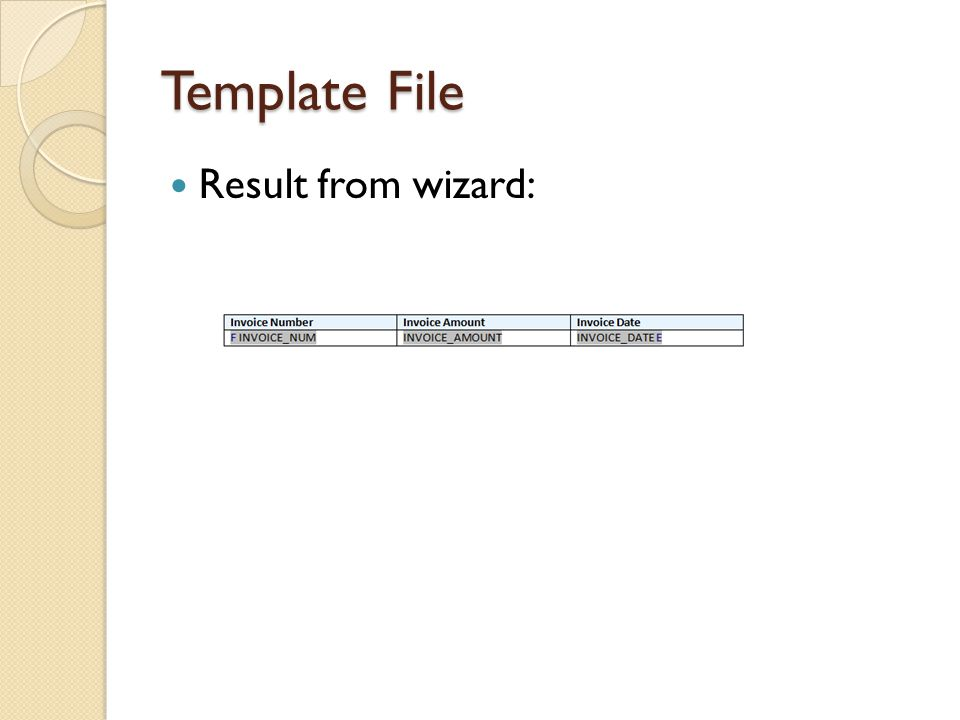 Template File Result from wizard: