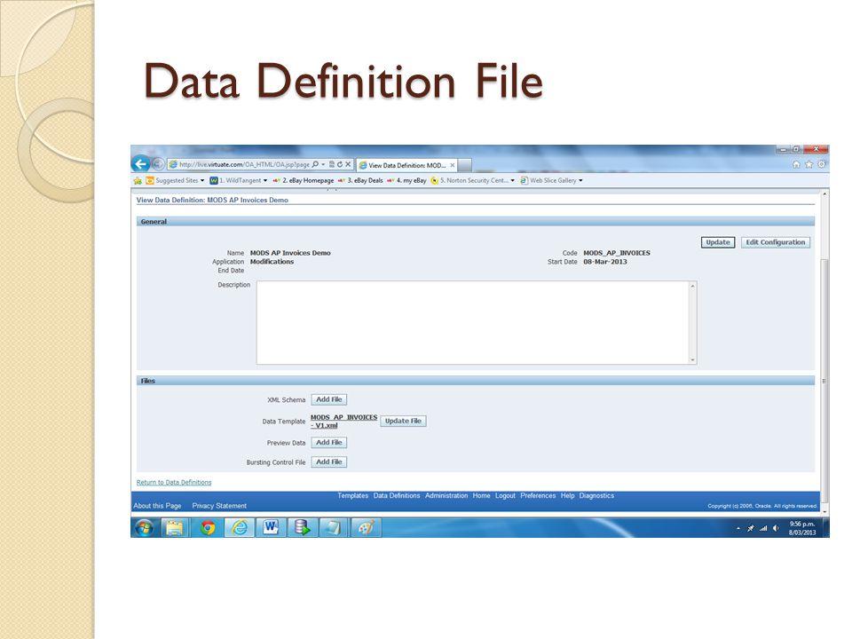 Data Definition File