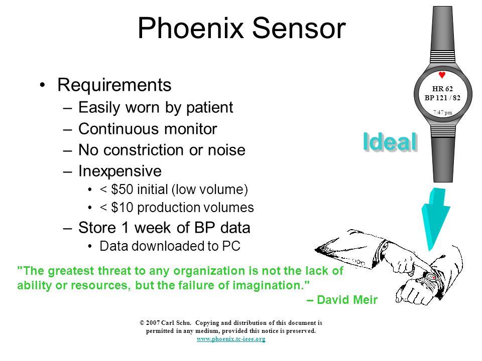 Phoenix Sensor Presently using two piezoelectric sensors to detect pulse.