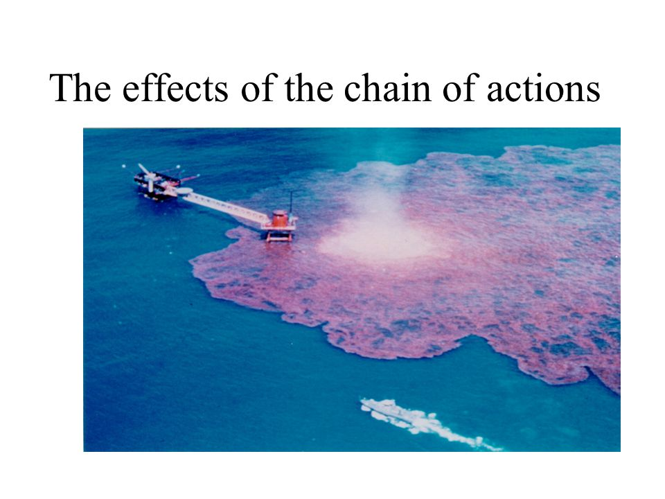 The effects of the chain of actions