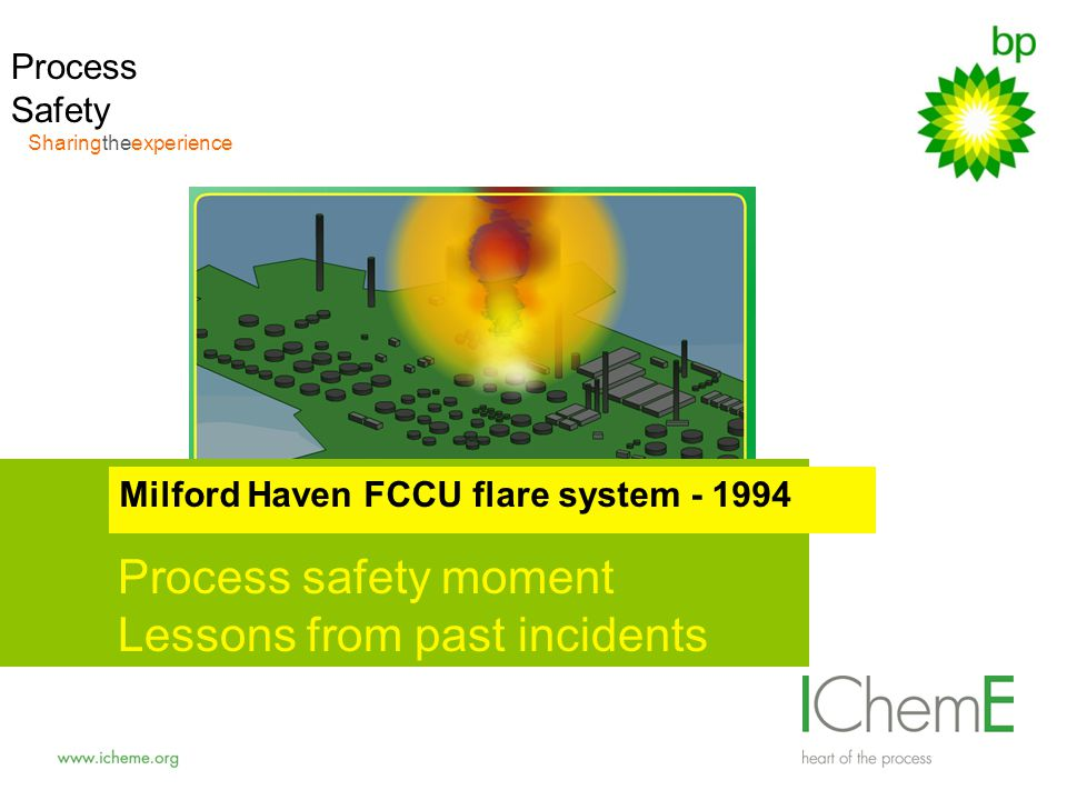 safety sharingtheexperienc e Process safety moment Lessons from past incidents Milford Haven FCCU flare system - 1994 Process Safety Sharingtheexperie