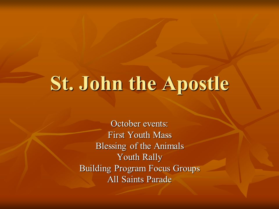 First Youth Mass Join us for an upcoming Youth Mass on the third Sunday evening of every month