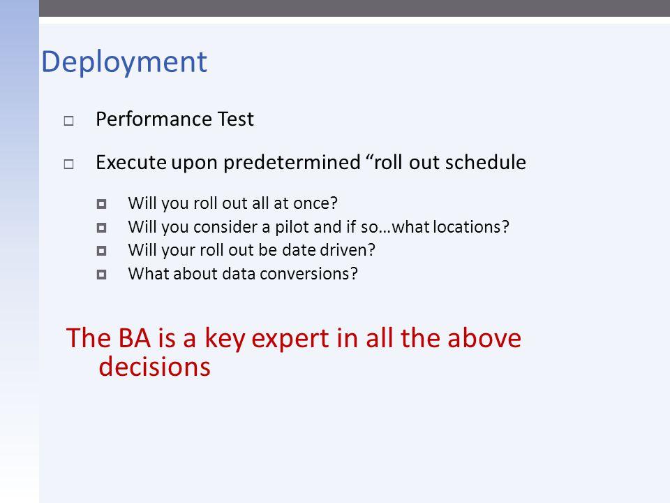 Client BA & Vendor BA in Steady State  Concerns  A new team.