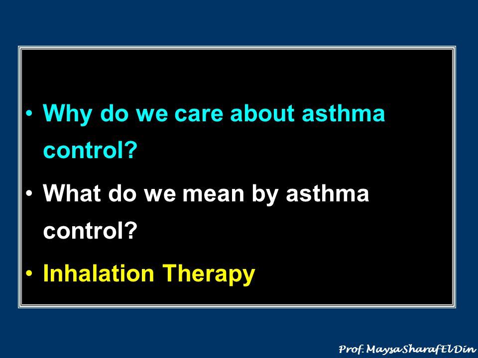 Why do we care about asthma control? Prof. Maysa Sharaf El Din