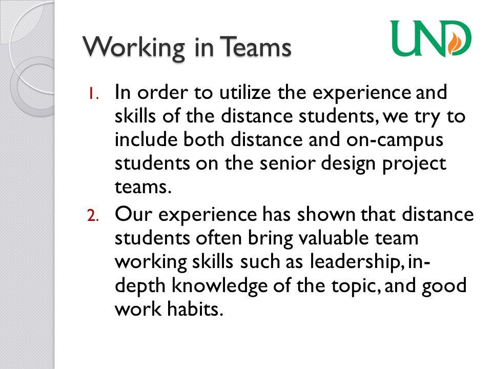 Working in Teams 1.