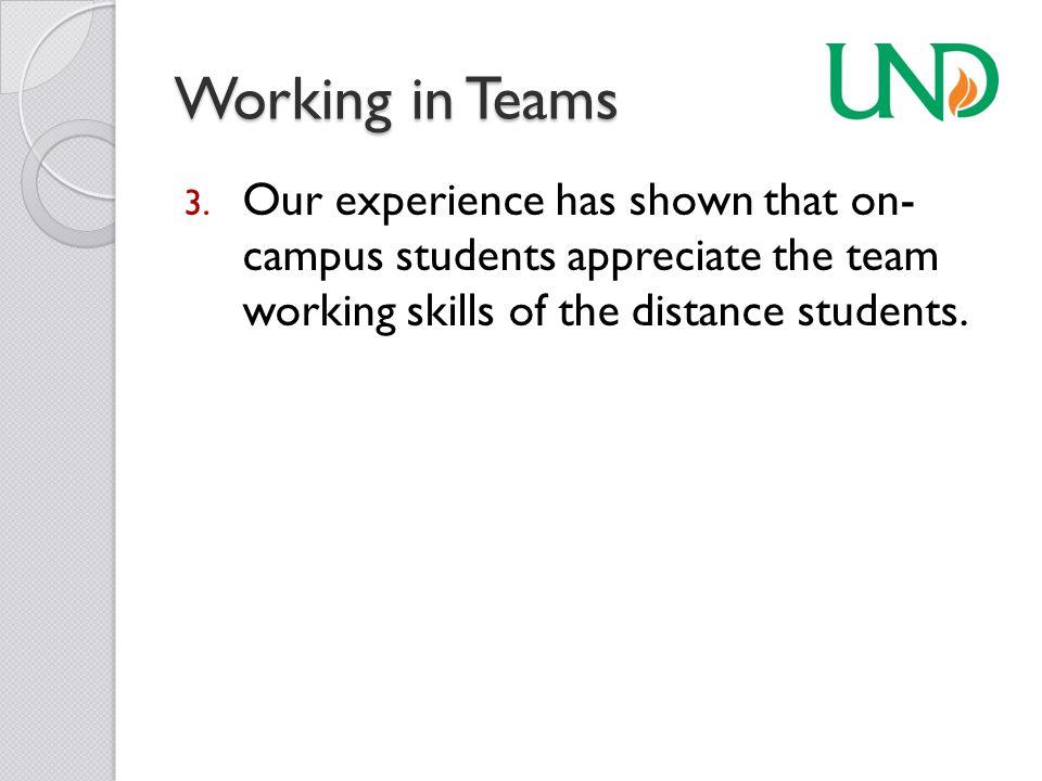 Working in Teams 3.