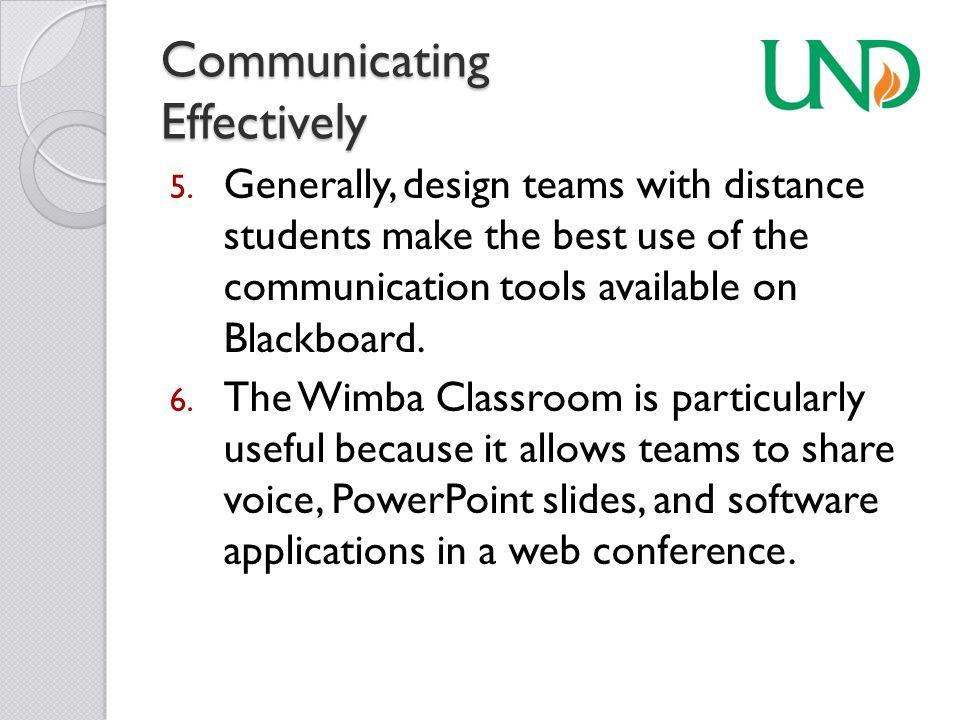 Communicating Effectively 5.