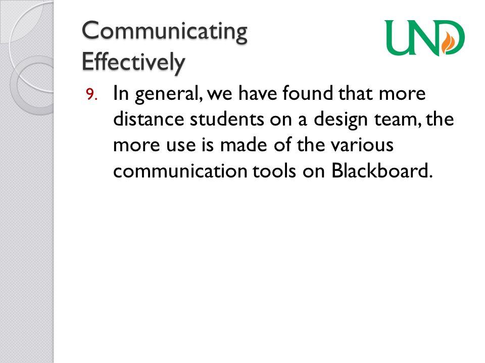 Communicating Effectively 9.