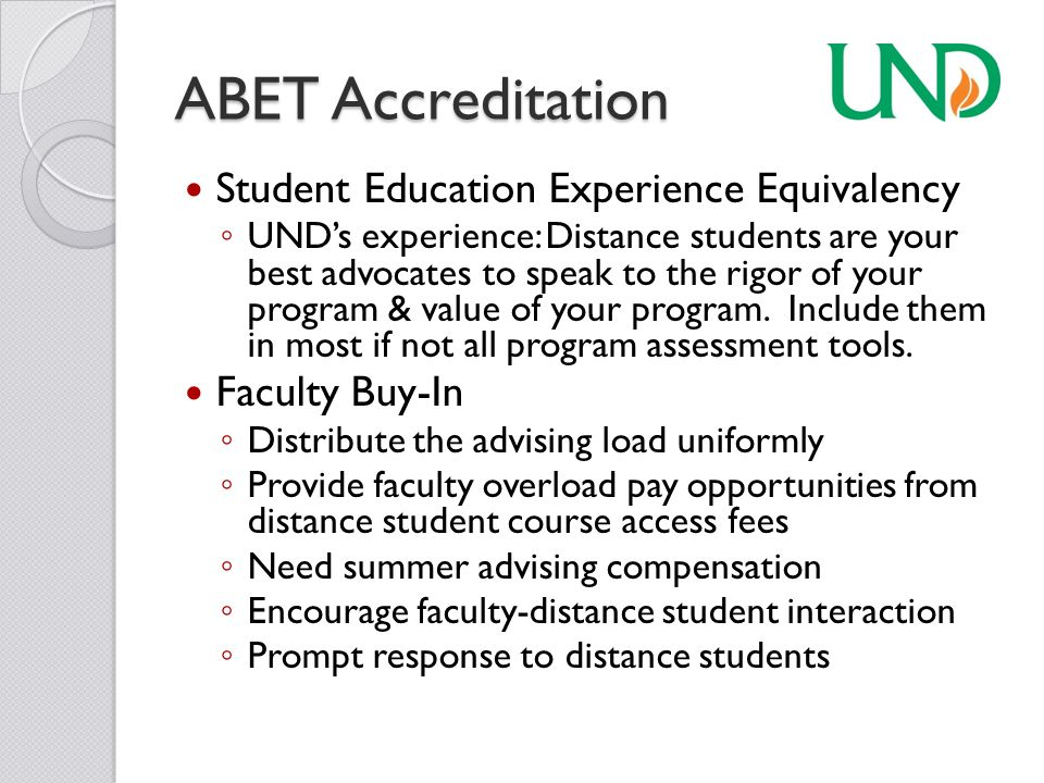 ABET Accreditation Admission: Expect many more applications for admission than will enroll in classes.