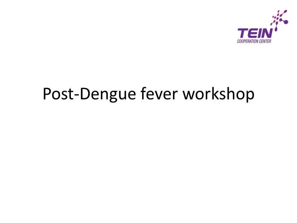 Post-Dengue fever workshop