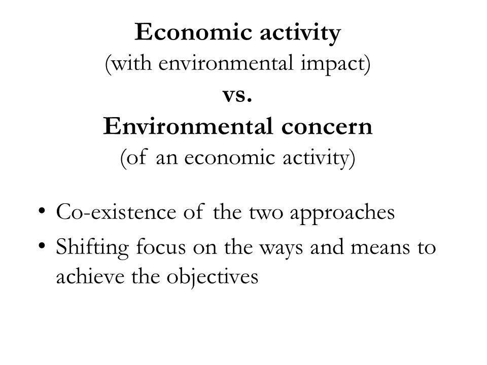 Economic activity (with environmental impact) vs.