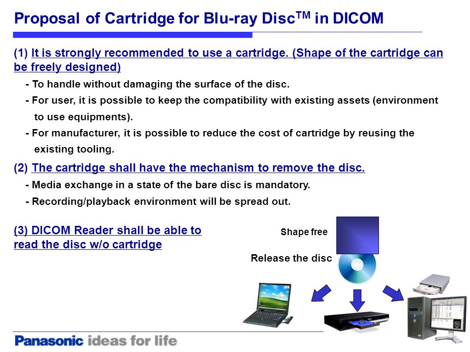 (2) The cartridge shall have the mechanism to remove the disc.
