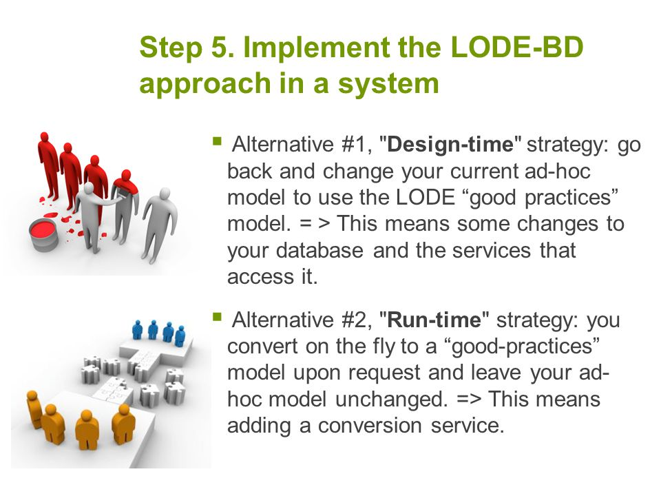 Step 5. Implement the LODE-BD approach in a system  Alternative #1,