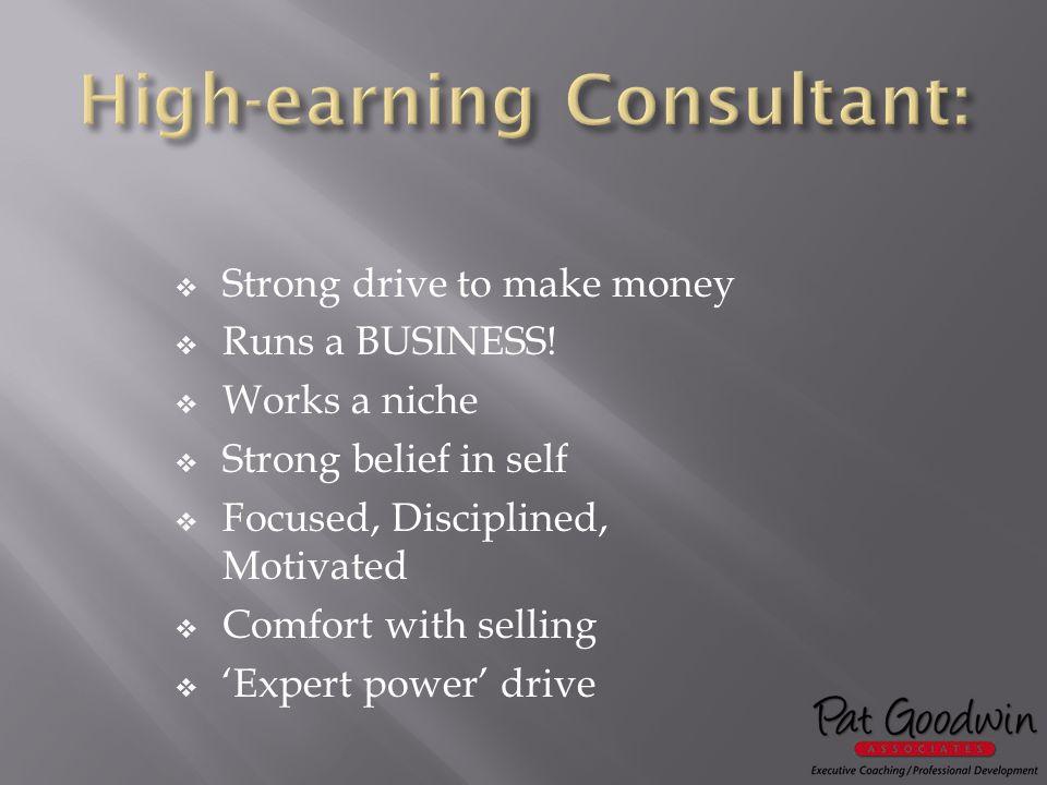  Strong drive to make money  Runs a BUSINESS.